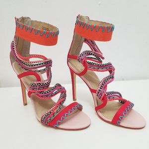 Gx By Gwen Stefani Multi Color Strap High Heels